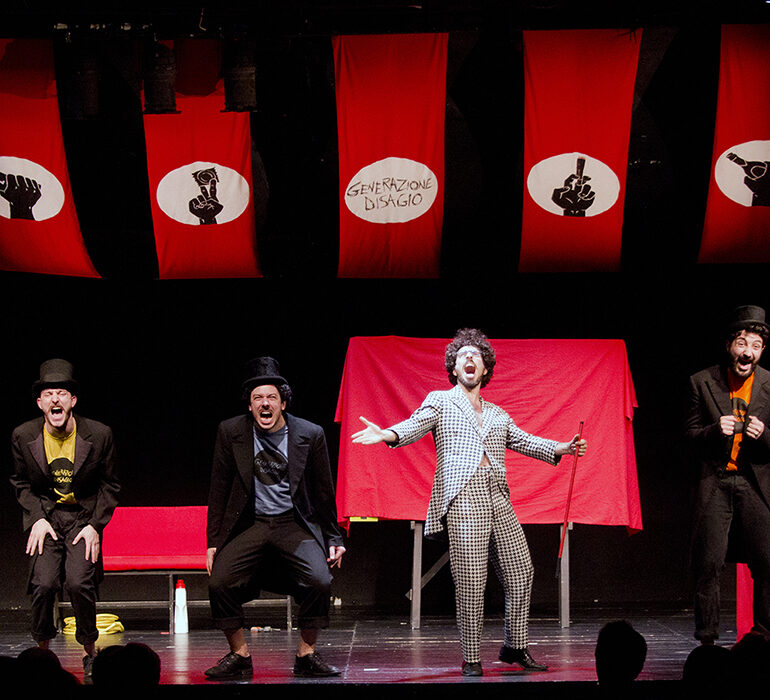 Dopodiché stasera mi butto, il gioco teatrale di Generazione Disagio, alla Fucina Culturale Machiavelli