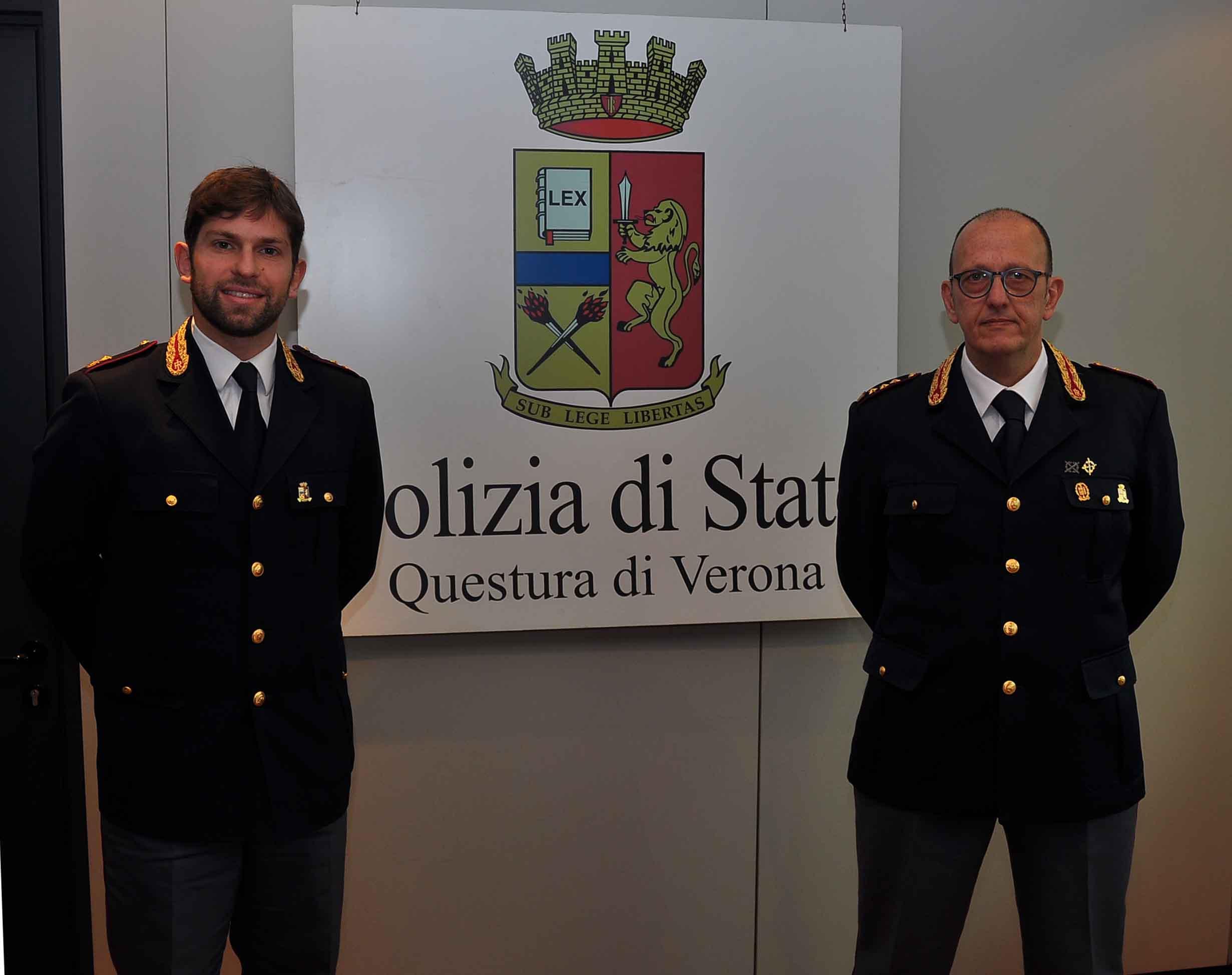 Verona assegnati a verona tre funzionari di polizia due for Questura di verona permesso di soggiorno