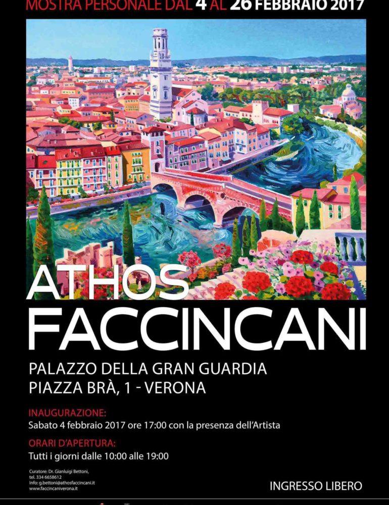 Mostra in gran Guardia di Athos Faccincani