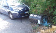 Vigili di quartiere recuperano fusto di materiale sconosciuto