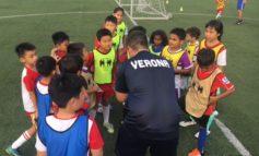 Gli istruttori del settore giovanile gialloblù a Singapore