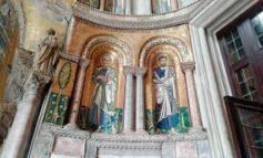 Venezia,restauro mosaici portale S.Marco
