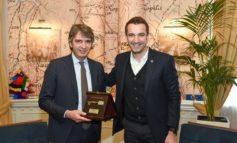 SINDACO RICEVE CHIAVI CITTA' DI TIRANA. NEL CORSO DEL BUSINESS FORUM ITALY-ALBANIA INCONTRO ANCHE CON PRIMO MINISTRO ALBANESE