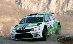 Il Rally del Ciocco di Umberto Scandola si conclude dopo sei prove a causa di una leggera toccata