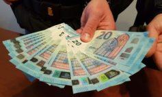 Orologi di lusso pagati con soldi falsi