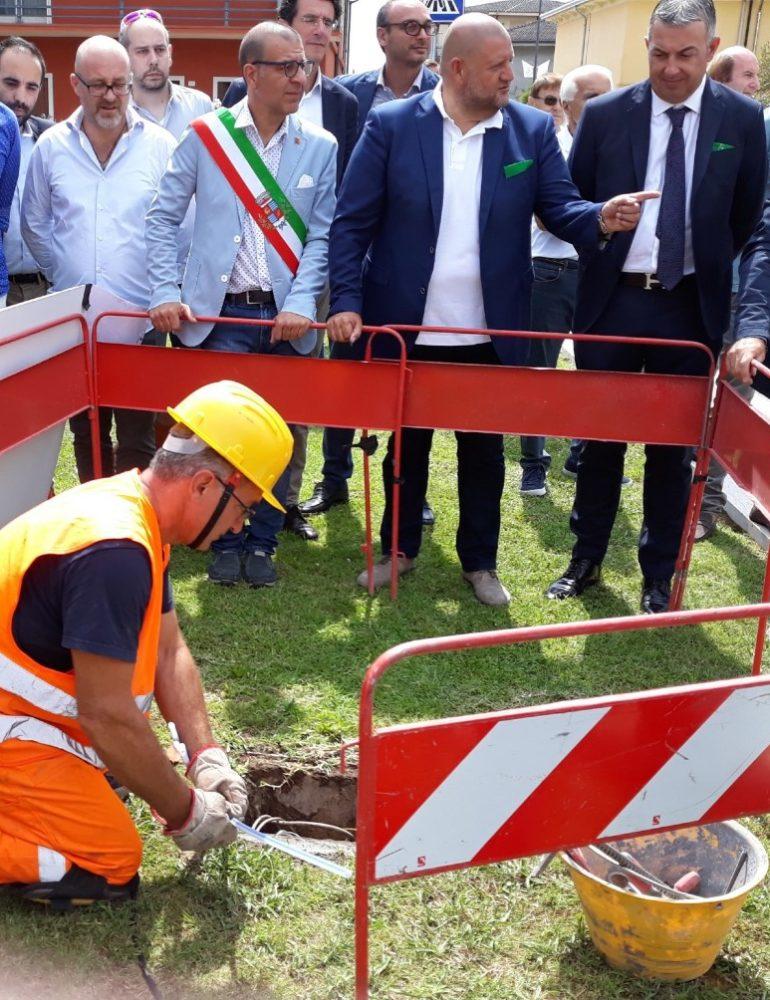 """Aperto a Concamarise il primo cantiere di Open Fiber per la banda ultra larga in provincia di Verona. Marcato: """"Non c'è sviluppo senza infrastrutture tecnologiche"""""""