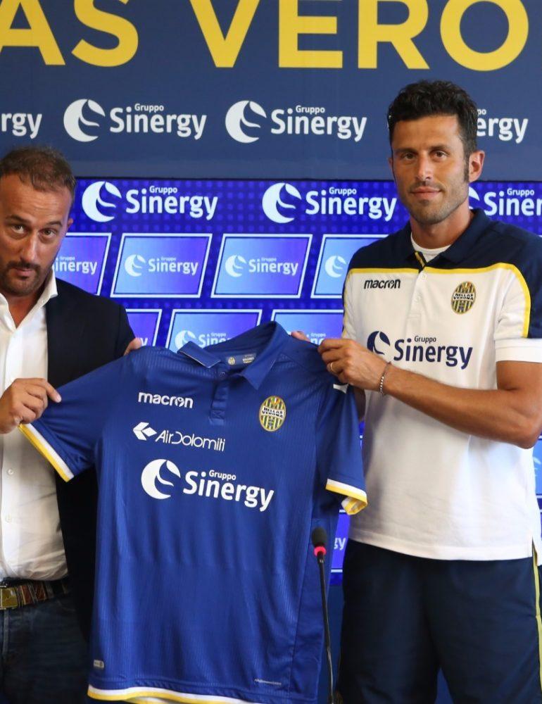 Gruppo Sinergy è il nuovo Main Sponsor dell'Hellas Verona FC