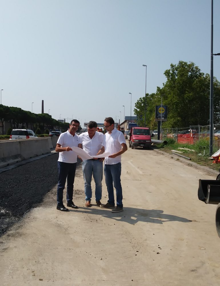 """Viale Piave, a fine agosto conclusi i lavori. Padovani: """"Intervento portato a termine con mese di anticipo"""""""