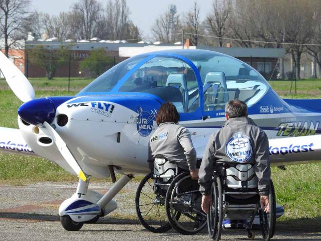 Disabili in volo domani a Verona Aeroporto Boscomantico