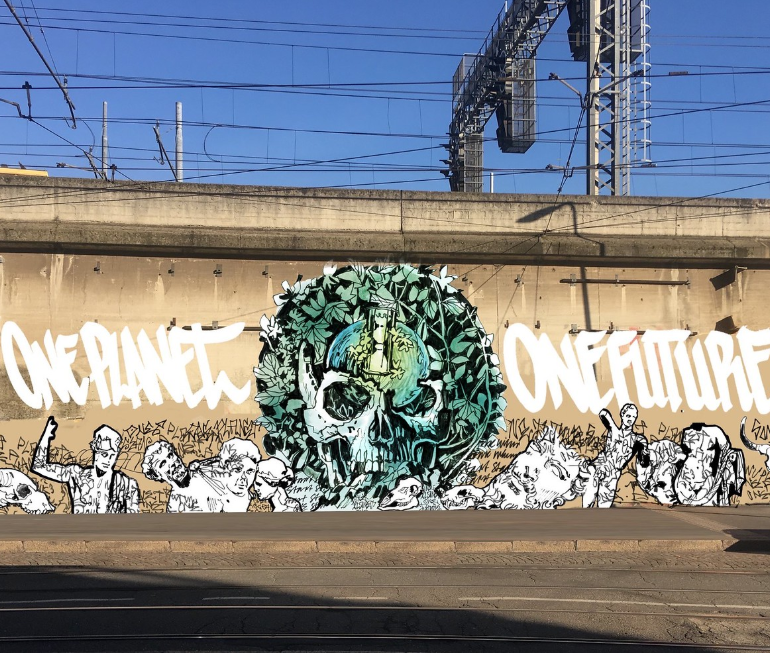 "Street art. In Municipio 3 il primo murales del progetto ""One planet one future"""