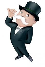 Mr Monopoly sabato tra le vie del centro