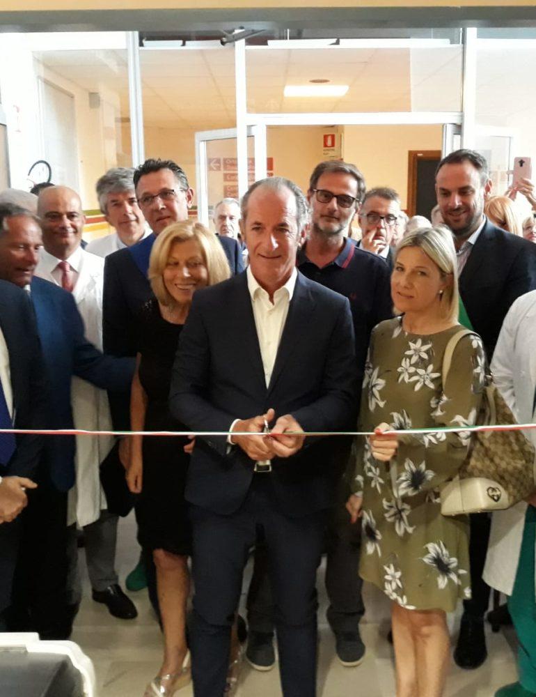 """Il Presidente Zaia a Treviso inaugura il primo centro per l'Incontinenza e le Stomie, """"La prossima settimana con una delibera innovativa affronteremo la mancanza di medici"""""""