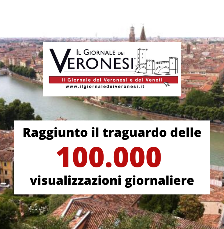 Continua l'escalation de Il Giornale dei Veronesi: il 20 Novembre raggiunto il traguardo delle 100.000 visite giornaliere