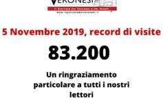Record di visite giornaliere per Il Giornale dei Veronesi