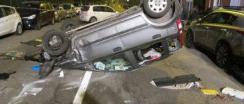 Incidente con sette veicoli coinvolti in Via Bonfadio