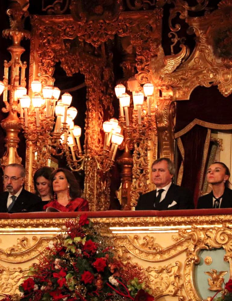 Il sindaco Brugnaro e il presidente del Senato Casellati al concerto di Capodanno del Teatro La Fenice