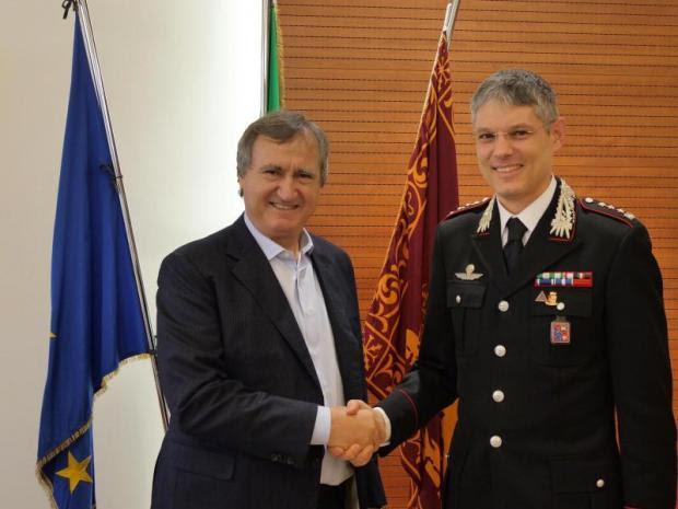 Il sindaco Brugnaro ha ricevuto in Municipio a Mestre il Colonnello Gianfilippo Magro, Comandante provinciale dei Carabinieri di Treviso