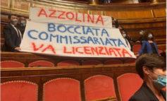 """Striscione della Lega contro Azzolina. La ministra, """"La dirigenza scolastica non è stata lasciata sola a fronteggiare i problemi"""""""
