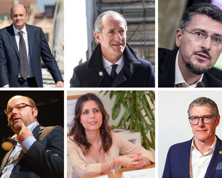 Risultati Sondaggio Regionali Veneto: Zaia al 64%, Lorenzoni 29%. Veneto Verde sopra M5S (2%)