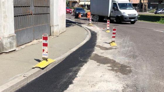 Contra' San Bortolo, proseguono gli interventi per la riqualificazione dei marciapiedi