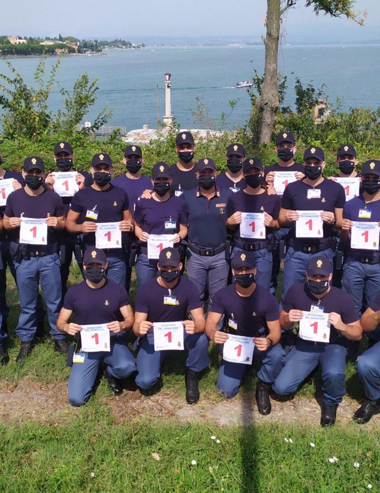 """Verona. Maratona Del Donatore """"Vinciamo Insieme"""": gli Allievi Agenti della Polizia di Stato in prima fila per supportare l'iniziativa."""