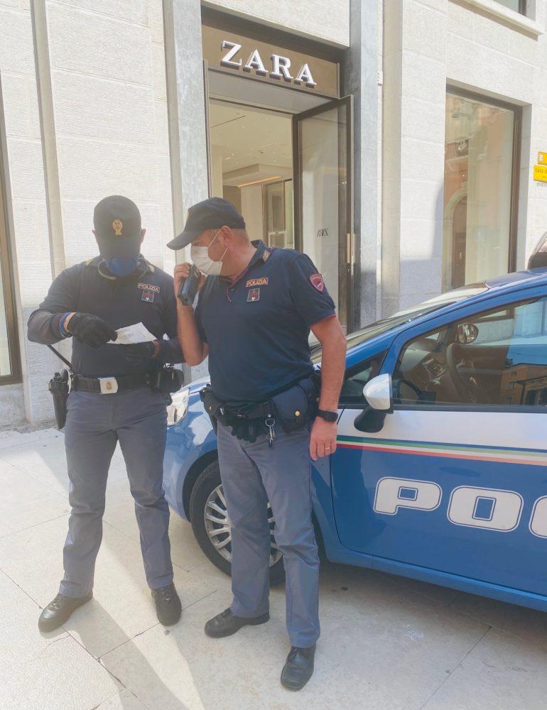 Verona. Tentata rapina in un negozio del centro: Addetto alla sicurezza aggredito. La Polizia arresta il responsabile
