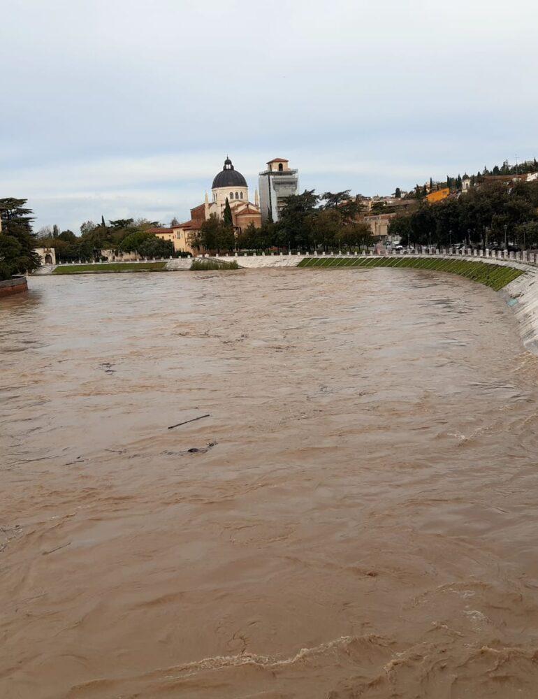 Meteo. Confermato stato di attenzione nelle aree attraversate dalla piena dell'Adige. Non previste precipitazioni significative nei prossimi giorni