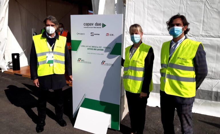 Alta velocità BS-VR: Assessore De Berti a cerimonia avvio lavori Galleria di Lonato del Garda