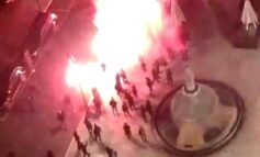 Dpcm: estrema destra in piazza a Verona, corteo e fumogeni