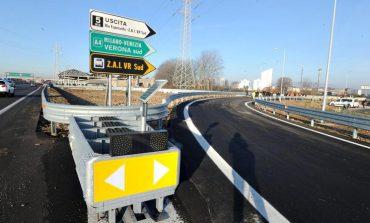 Cantiere in entrata e uscita dalla Tangenziale Sud di Verona, svincolo Vigasio 5 Bis. Lunedì 2 agosto inizio dei lavori