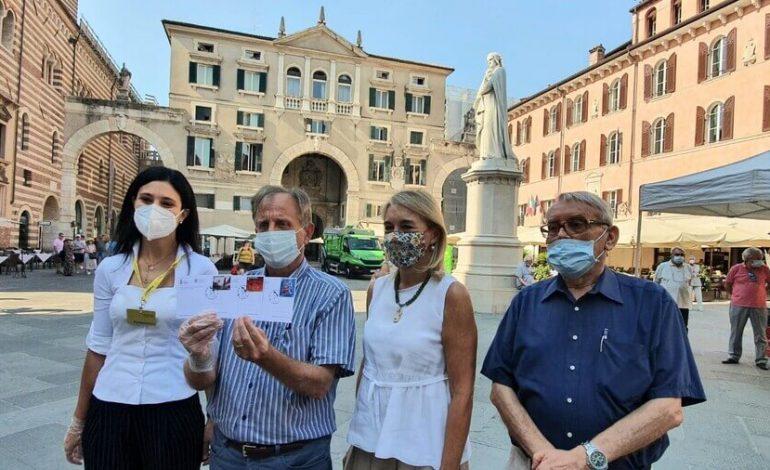 Anniversario morte Dante Alighieri. Verona lo ricorda con francobolli, cartoline e uno speciale annullo filatelico